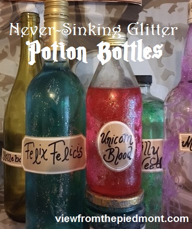 Updated Glitter Potion Jars